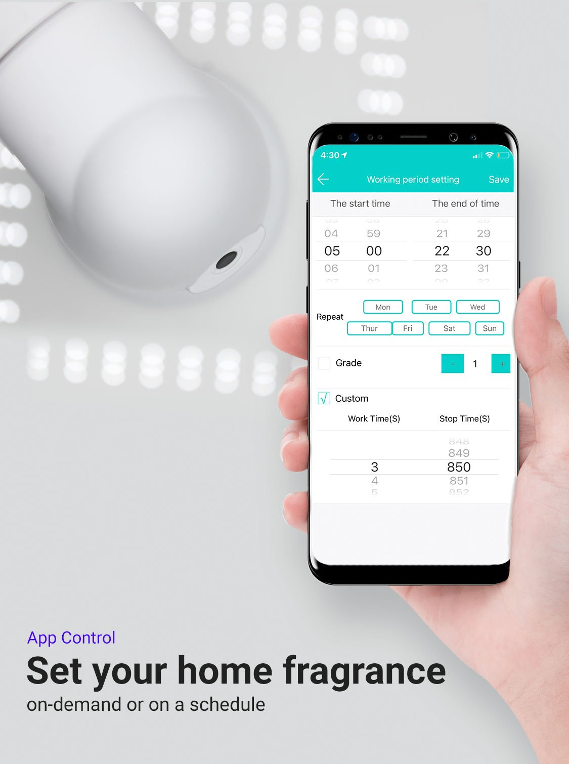 Amazer Plus Smart Diffuser App Control Image