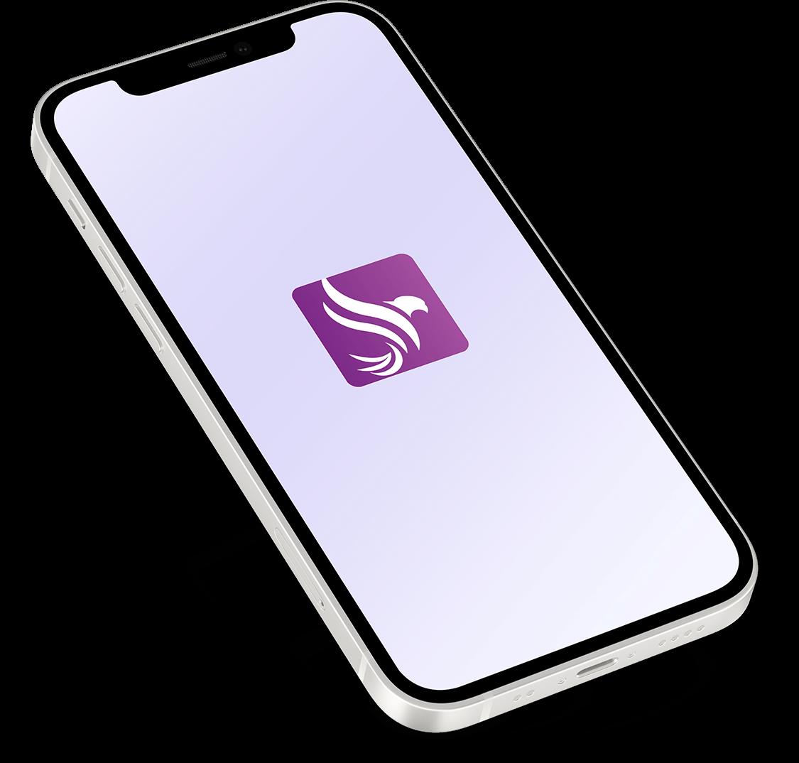 White iphone 12 w app 1